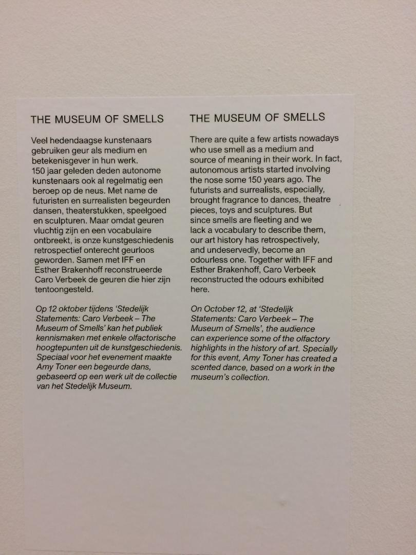 introductietekst museum of smells