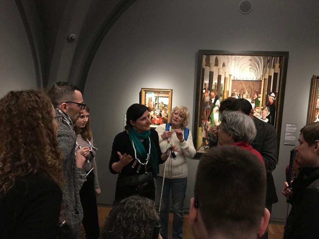 Olfactory tour for blind and near-sighted people at the Rijksmuseum.